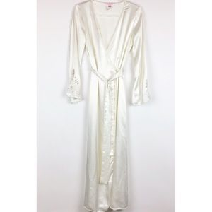 Victoria Secret Bridal Peignoir Robe l Size M/L